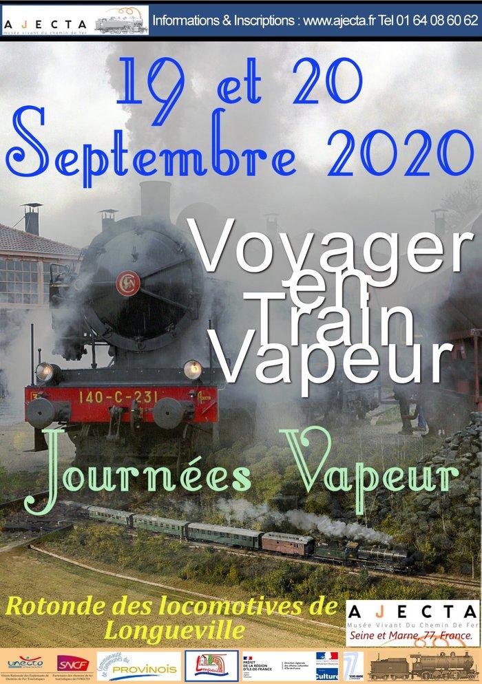Journées du patrimoine 2020 - Journées Vapeur AJECTA - Voyager en train à vapeur