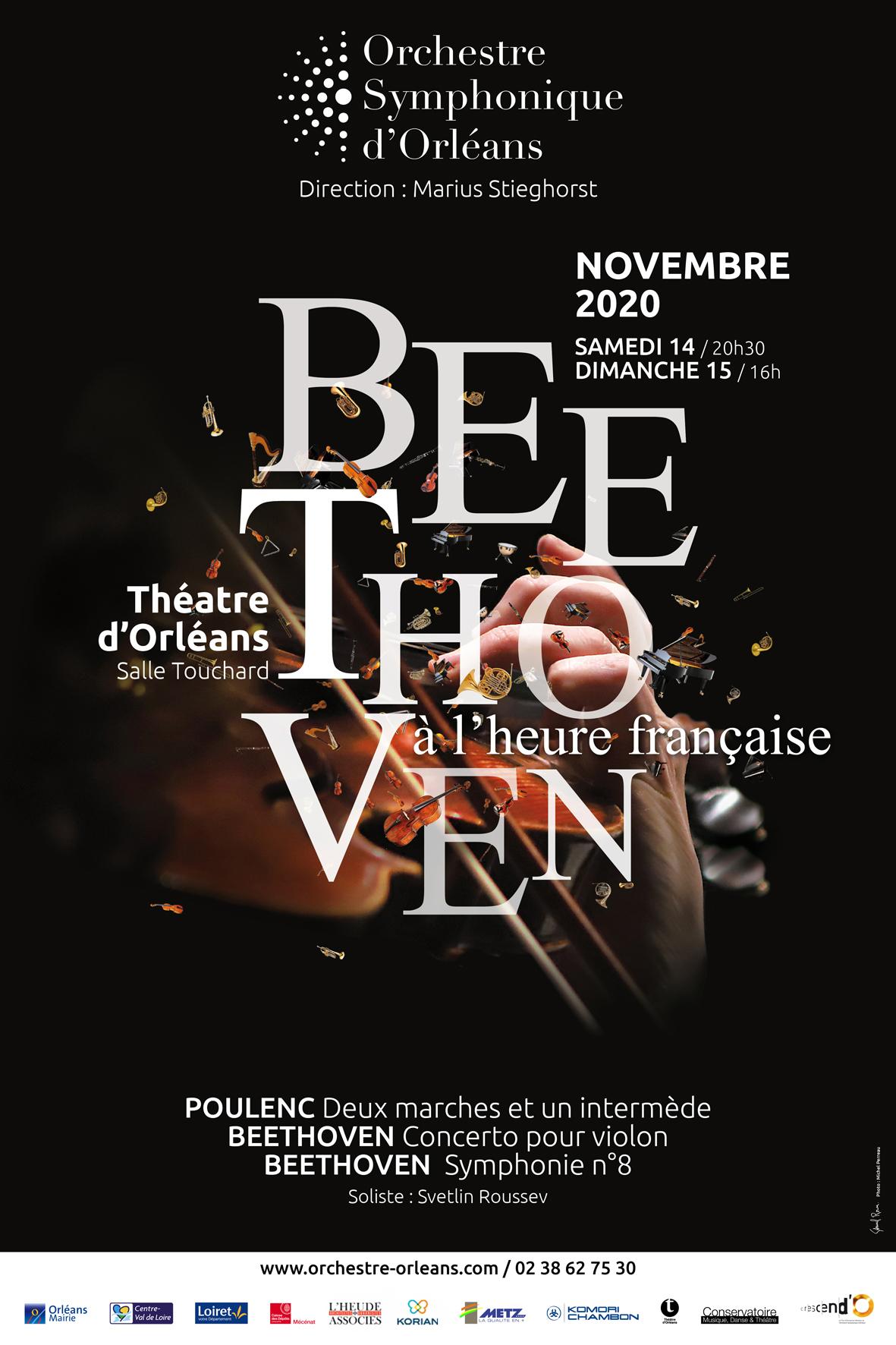 """Annulé   Orchestre Symphonique d'Orléans - Concerts """"Beethoven à l'heure française"""""""