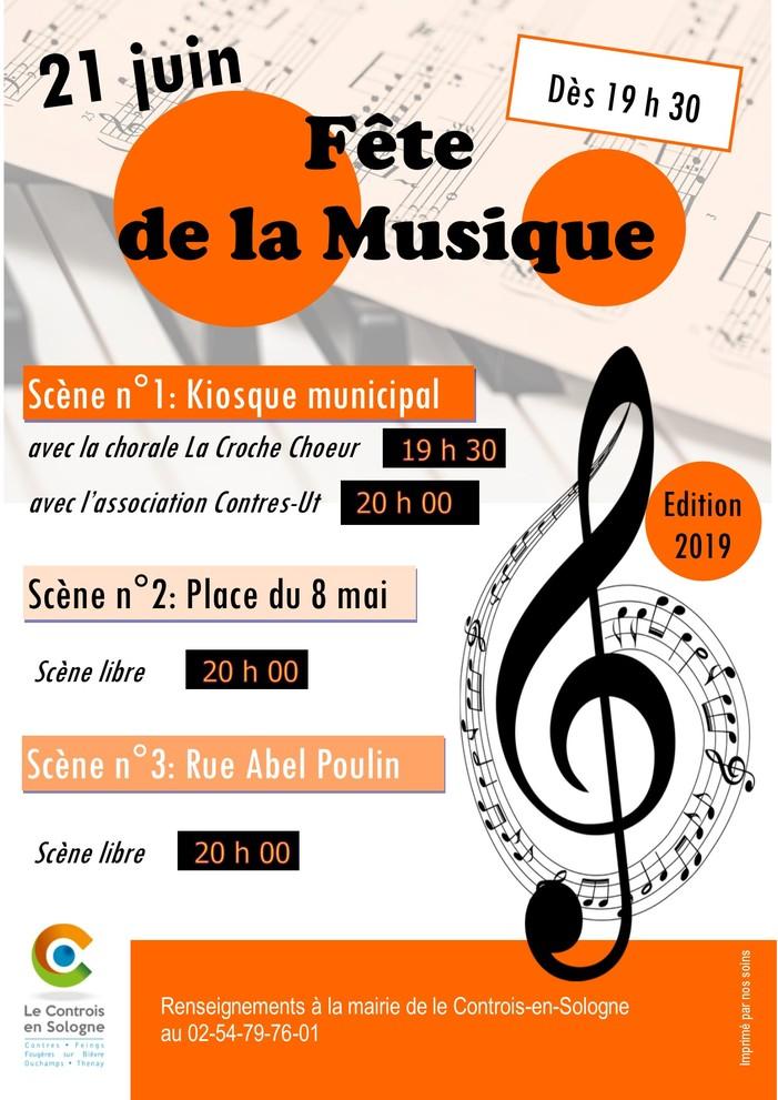 Fête de la musique 2019 - Chorale La Croche Choeur avec l'association Contres-Ut