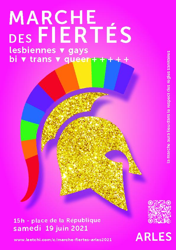 Première Marche des Fiertés d'Arles ! Evénement fondateur et attendu, porté par un collectif arlésien de personnes LGBTQI+++.