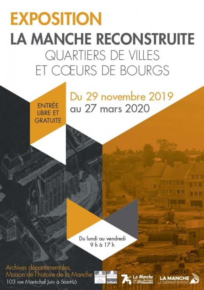 Journées du patrimoine 2020 - Exposition : la Manche reconstruite. Quartiers de villes et cœurs de bourgs