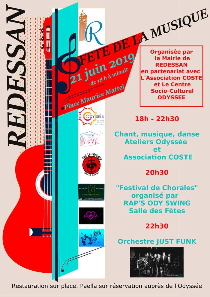 Fête de la musique 2019 - Plateau ateliers associations Coste // Odyssée // Groupe Just Funk