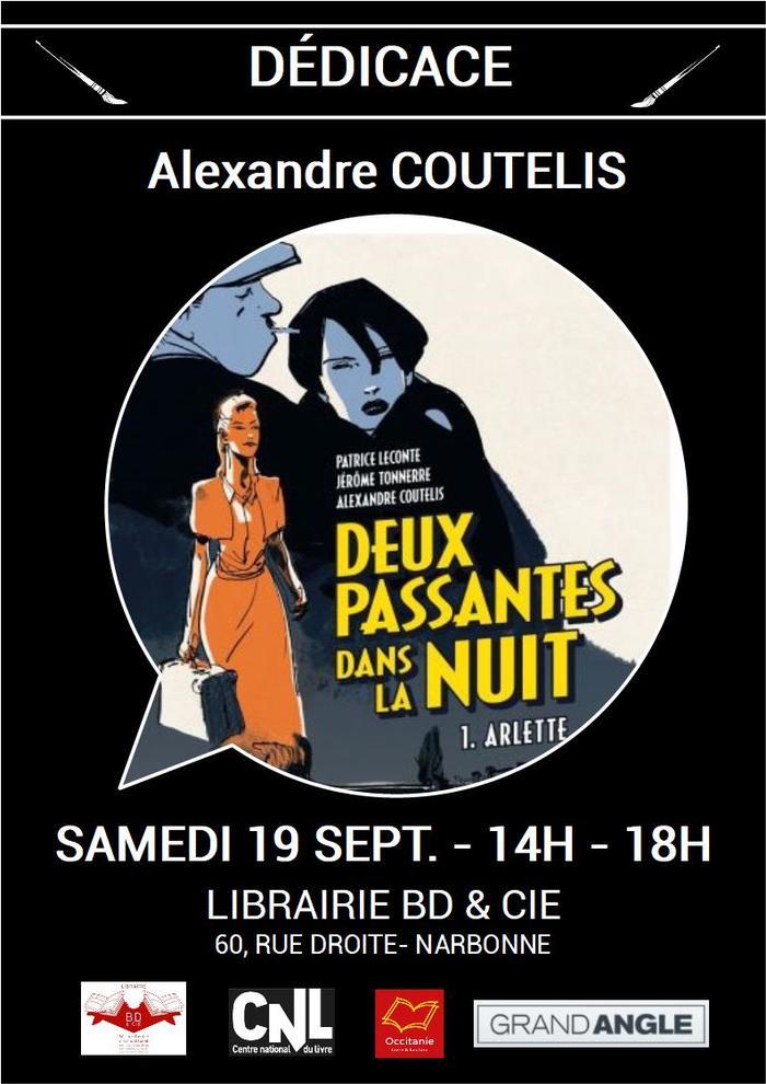 Dédicace de Al COUTELIS pour Deux passantes dans la nuit aux éditions Grand Angle.
