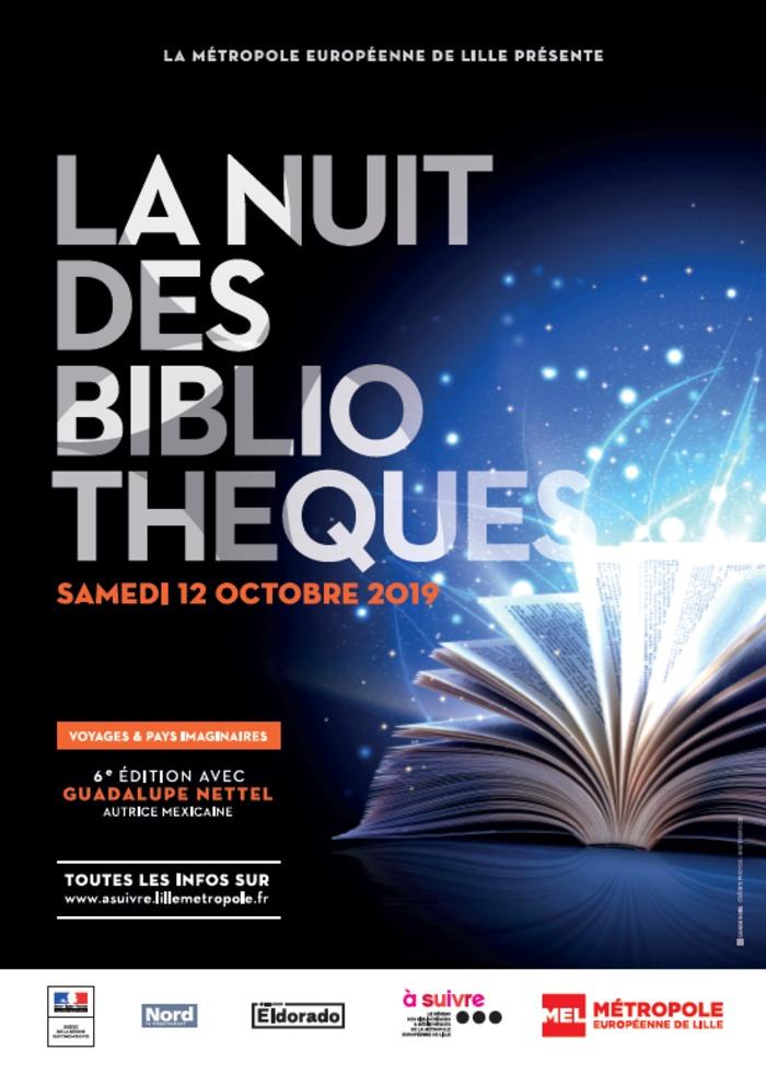 Les médiathèques de Tourcoing s'associent à la 6e édition de la Nuit des bibliothèques, organisée par la Métropole Européenne de Lille. La thématique cette année ? Voyages et pays imaginaires !