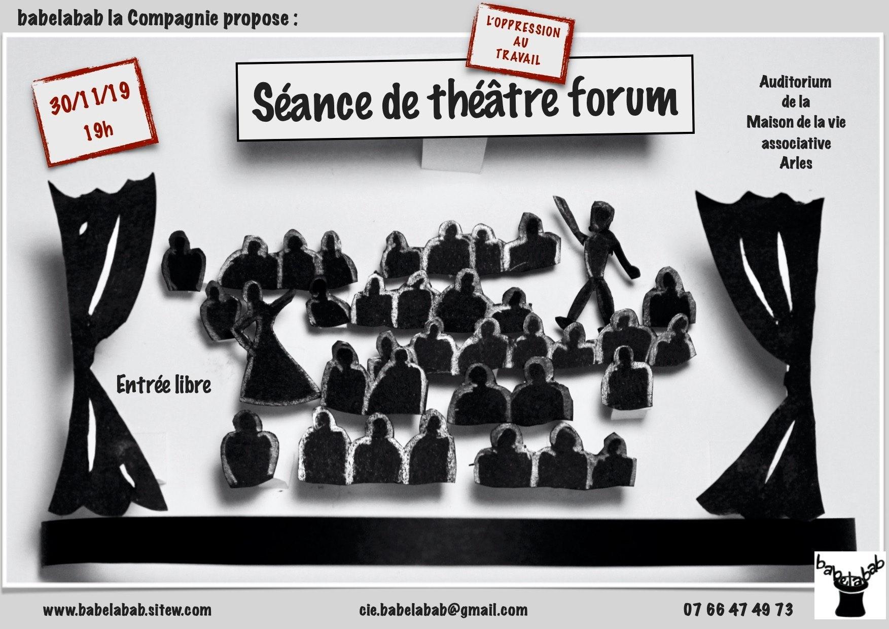 Première séance de théâtre forum de l'atelier
