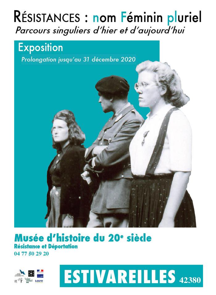Journées du patrimoine 2020 - Résistances : nom Féminin pluriel - Parcours singuliers d'hier et d'aujourd'hui