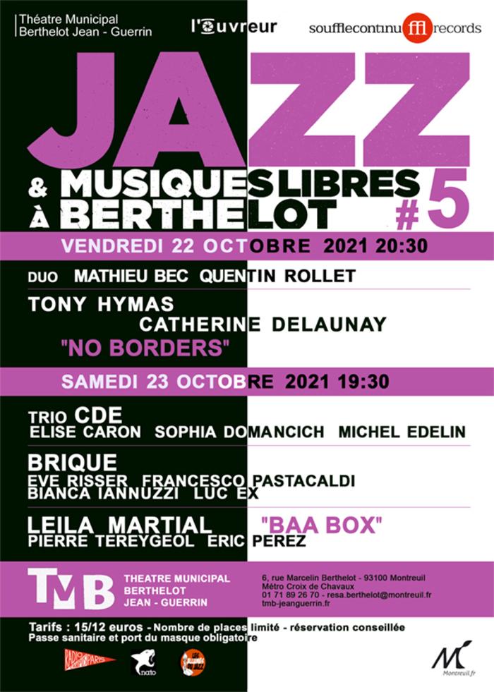 festival jazz et musiques libres à Berthelot