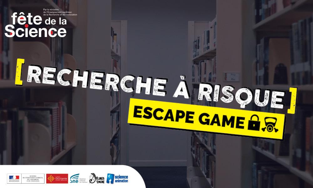 """Escape game """"Recherche à risque"""""""