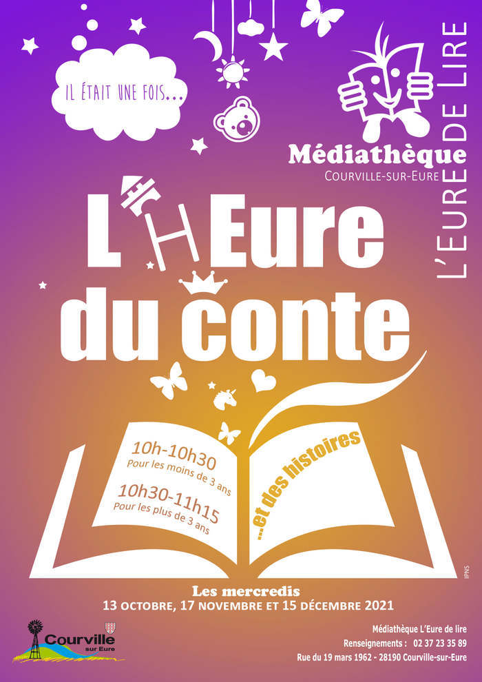 L'h'Eure du conte médiathèque de Courville-sur-Eure Mercredi 15 décembre 2021