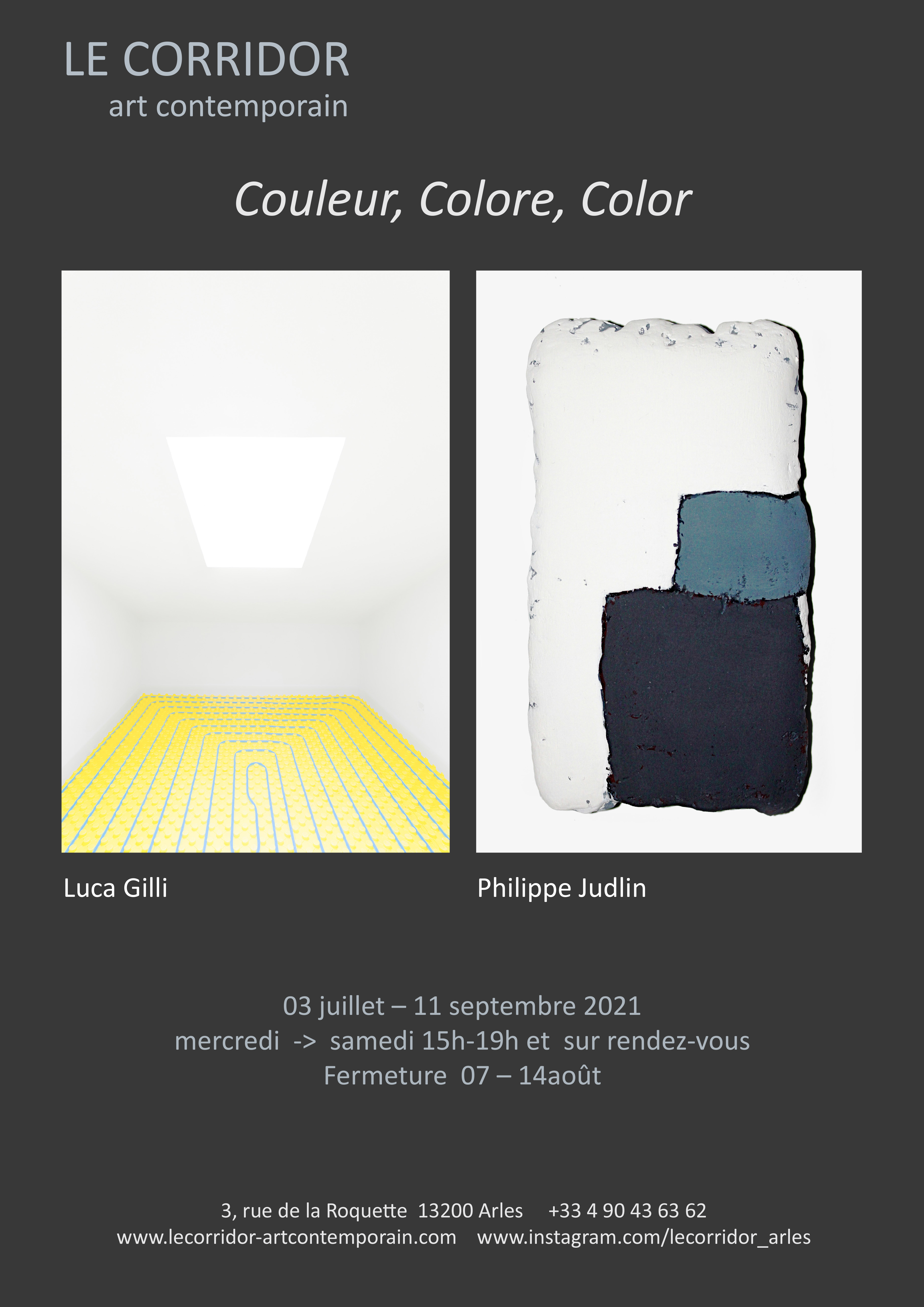 Le Corridor réunit  les photographies  de Luca Gilli,  et les peintures de Philippe Judlin