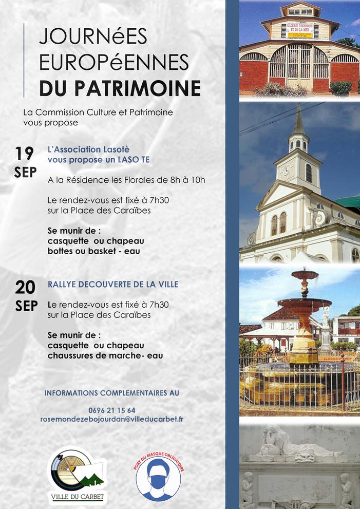 Journées du patrimoine 2020 - Le Carbet / De la terre au Patrimoine : Lasotè