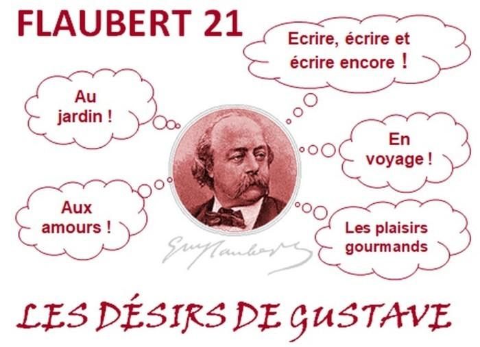 Découvrir Gustave Flaubert à travers cinq de ses désirs: l'écriture, la gourmandise, l'amour, le jardin et les voyages