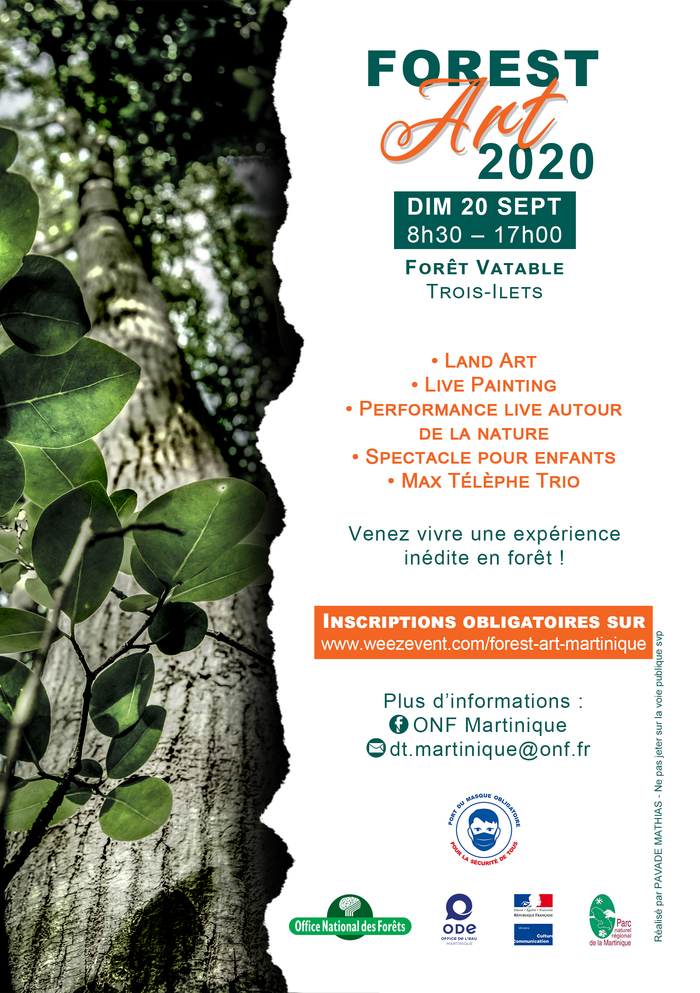 Journées du patrimoine 2020 - Les Trois-Ilets / Forest Art à la Forêt Vatable