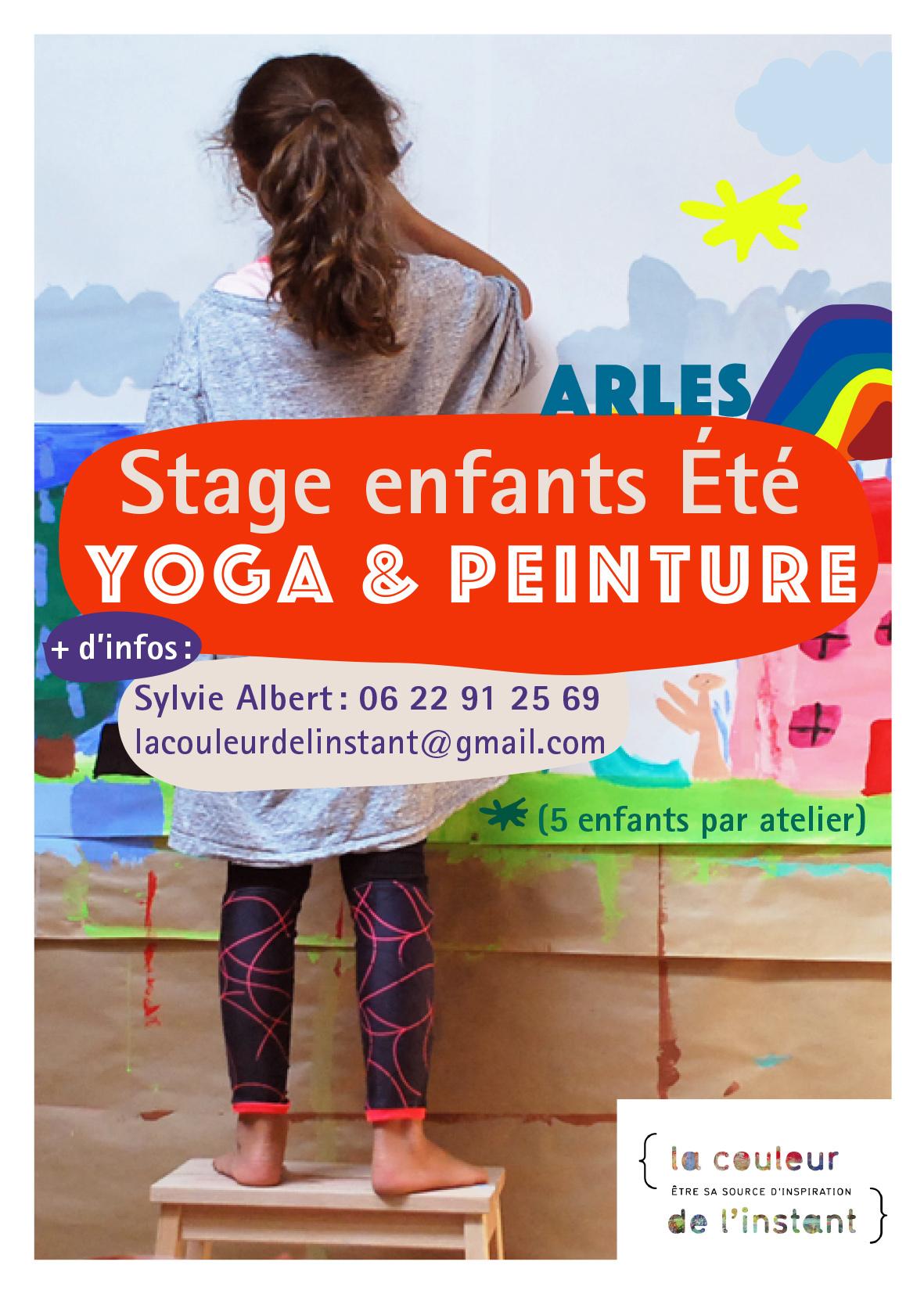Séances de 3h composées d'un temps de yoga ludique pour jouer avec les postures et d'une séance de peinture pour exprimer sa créativité en liberté