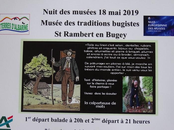 Nuit des musées 2019 -Suivez le colporteur à la découverte des objets et de leur histoire...