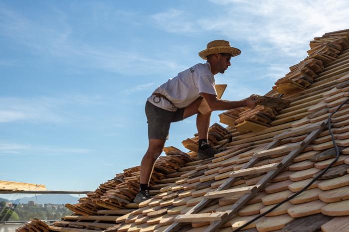 Journées du patrimoine 2020 - Démonstrations - Travaux de toiture