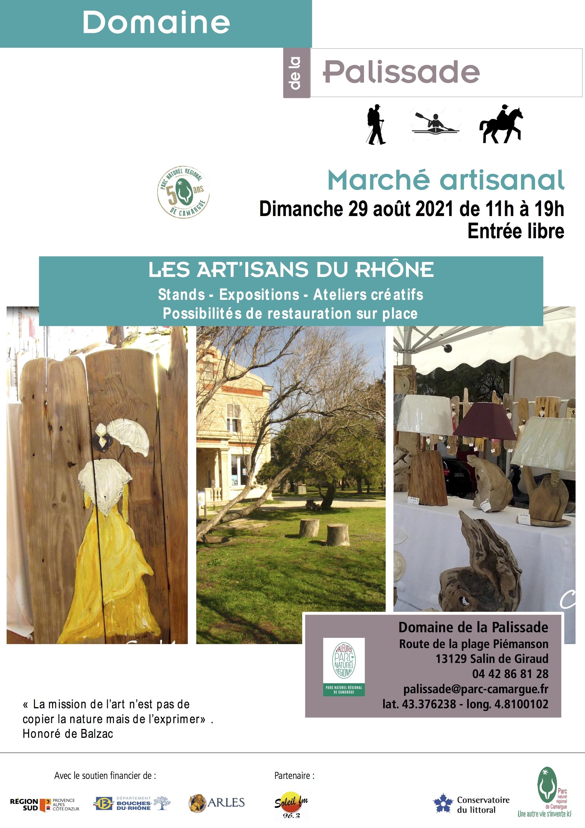 Le Parc naturel régional de Camargue invite les artistes et artisans du territoire à investir le Domaine de la Palissade pour la 4me èdition des «Art'isans du Rhône».