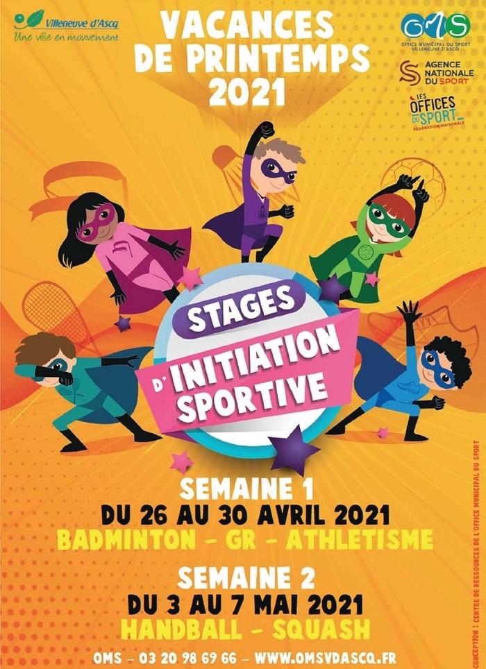 Annulé | Stages d'initiation sportive vacances de printemps 2021 - OMS