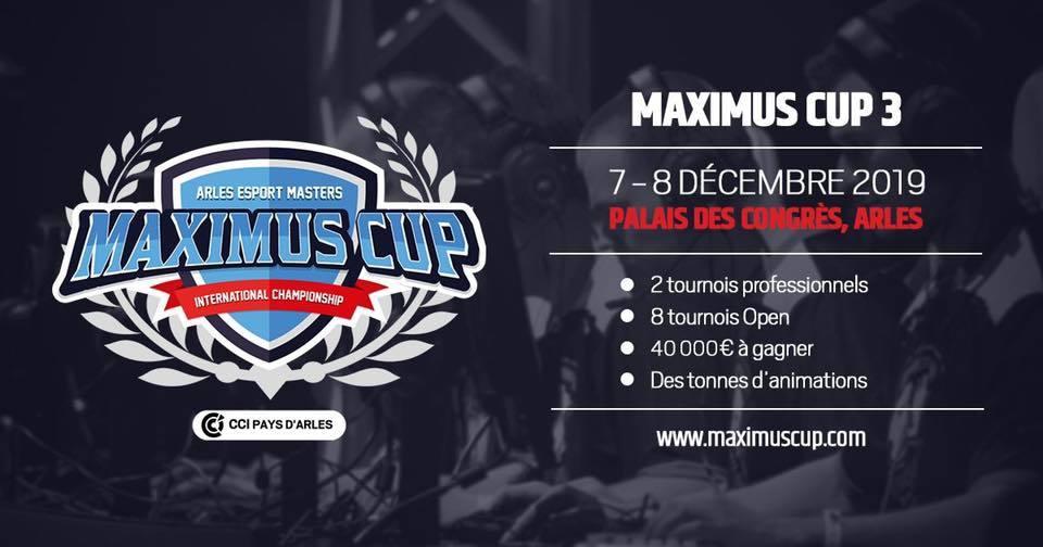 Maximus Cup, l'événement esport en France organisé par la CCI du Pays d'Arles au Palais des Congrès d'Arles revient en 2019...