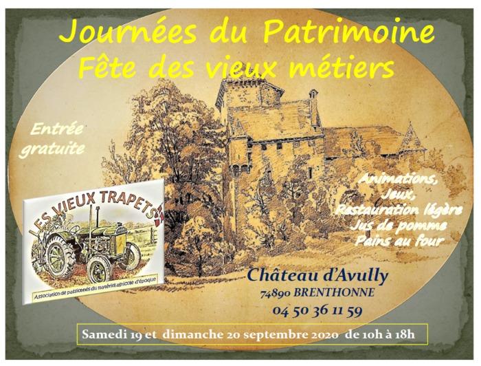 Journées du patrimoine 2020 - Fêtes des Vieux Métiers