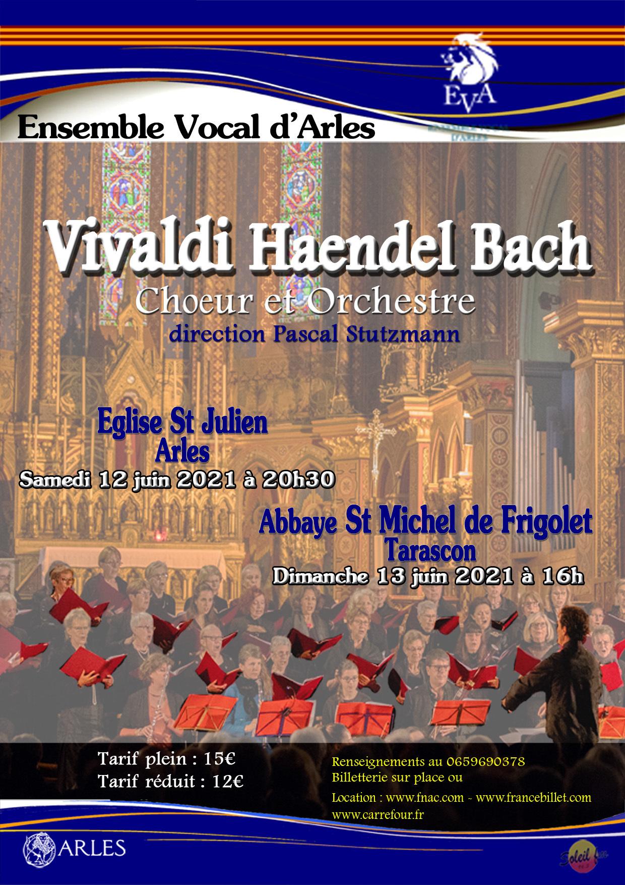 L'Ensemble vocal d'Arles accompagné de neuf musiciens sous la direction de Pascal Stutzmann.