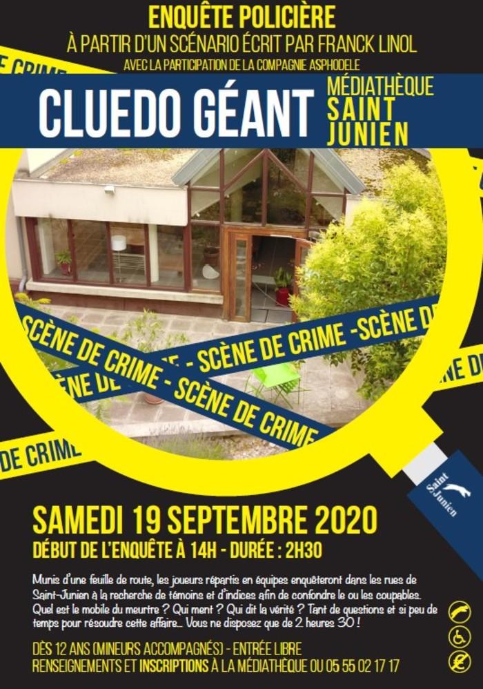 Journées du patrimoine 2020 - Cluedo Géant