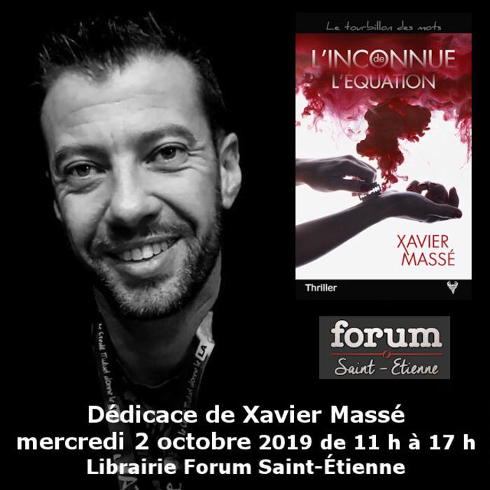 Dédicace Xavier Massé Librairie Forum Saint-Étienne