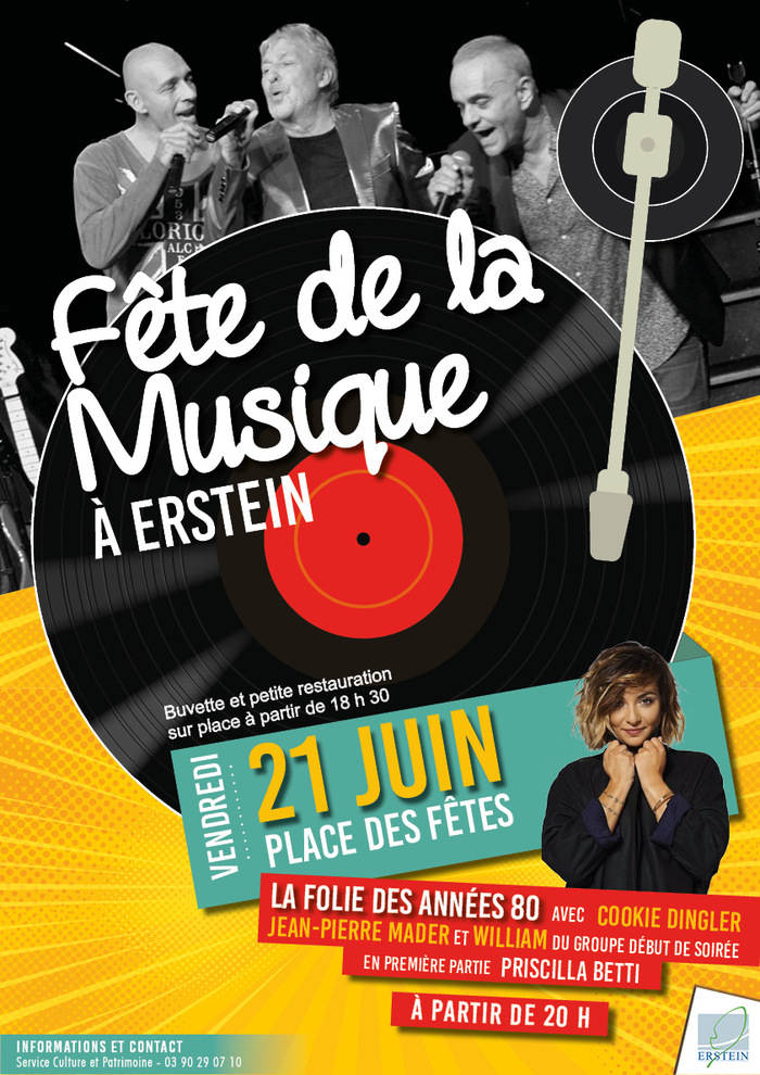 Fête de la musique 2019 - Cookie Dingler, Jean-Pierre Mader, William + Priscilla Betti