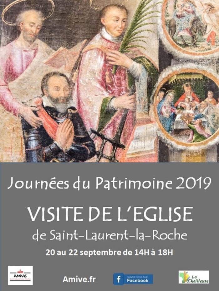 Journées du patrimoine 2019 - Visite guidée de l'église de Saint-Laurent-la-Roche