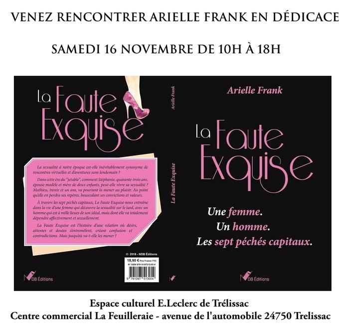 Séance de dédicaces d'Arielle Frank, espace culturel E.Leclerc Trélissac