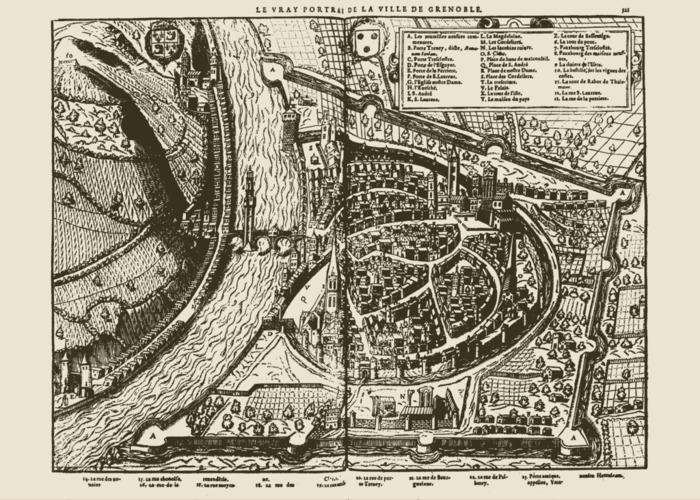 Journées du patrimoine 2019 - La défense et la ville : dix-sept siècles de fortifications ont façonné les quartiers de Grenoble.