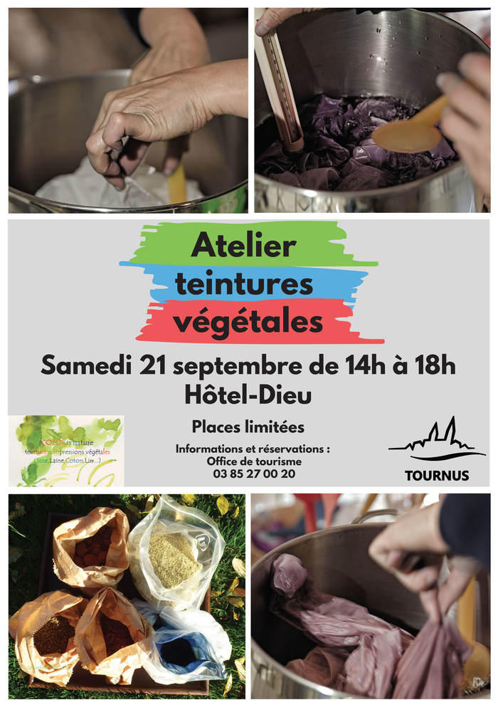Journées du patrimoine 2019 - Atelier teintures végétales