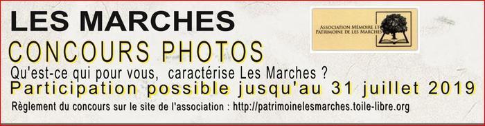 Journées du patrimoine 2019 - Exposition des photos sur le thème : Qu'est ce qui, pour vous, caractérise Les Marches ?