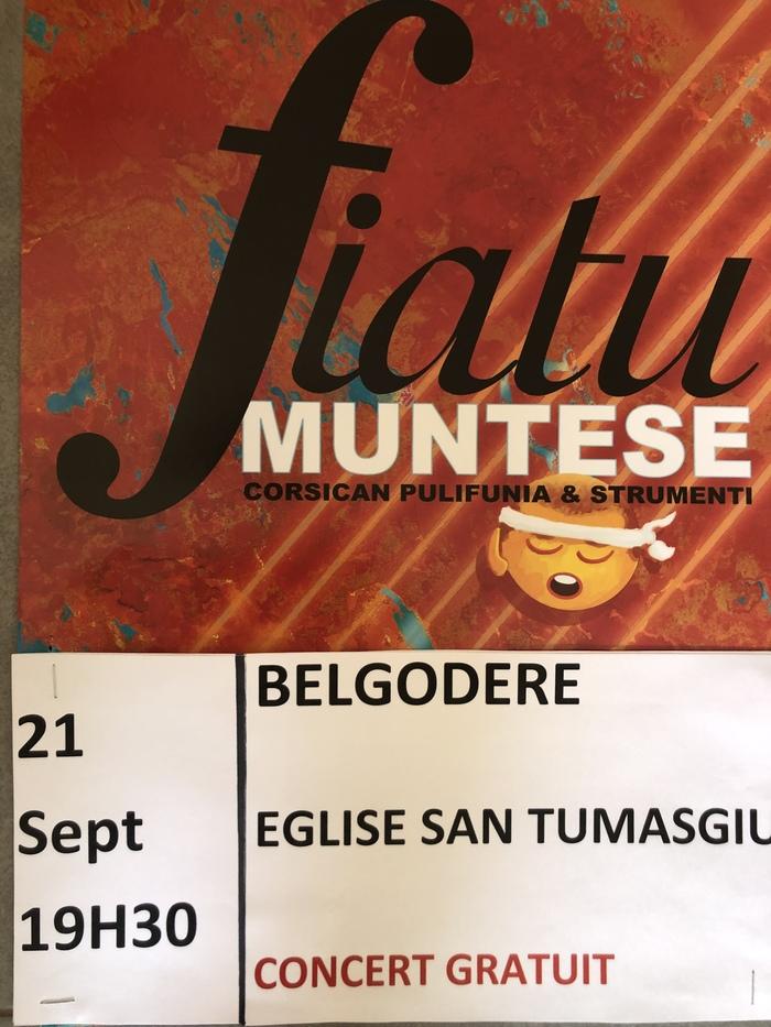 Journées du patrimoine 2019 - Concert U Fiatu Muntese
