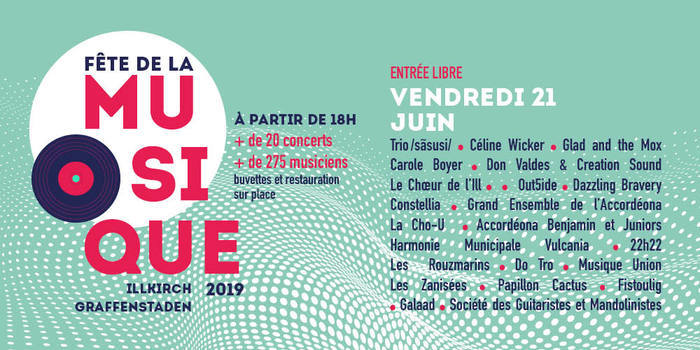 Fête de la musique 2019 - Trio /sãsusi/ / Céline Wicker / Glad and the Mox / Carole Boyer / Don Valdes & Creation Sound