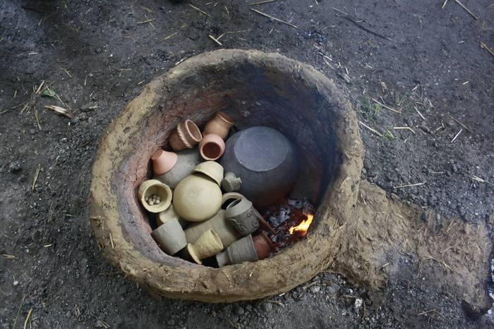 Journées du patrimoine 2020 - Démonstration de cuisson de poteries par la troupe de reconstitution gauloise Branno Teuta