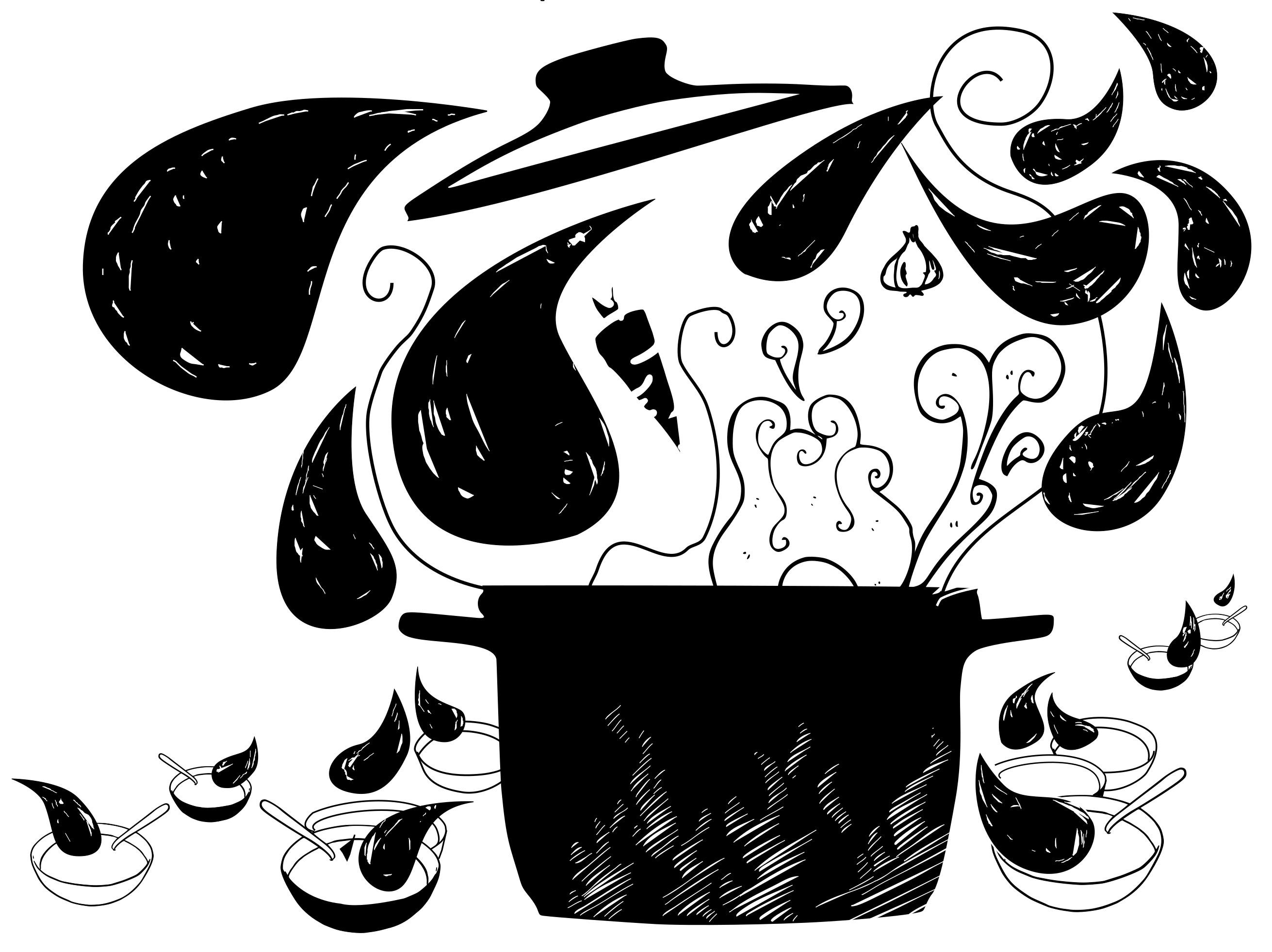 Préparation et dégustation collective d'une grosse soupe !