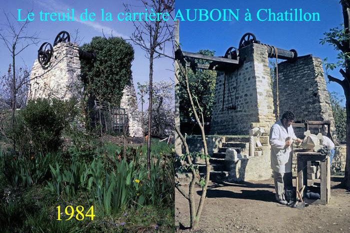Journées du patrimoine 2019 - Projections sur l'industrie de la pierre à bâtir et les étapes de restauration du treuil de la carrière Auboin à Châtillon