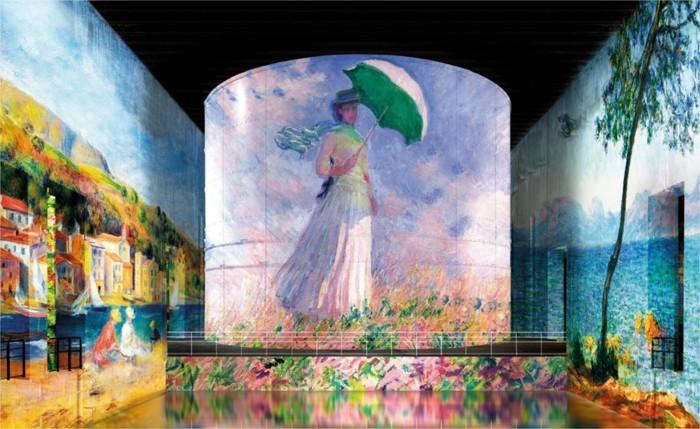 Monet, Renoir, Chagall… Voyages aux Bassins de Lumières