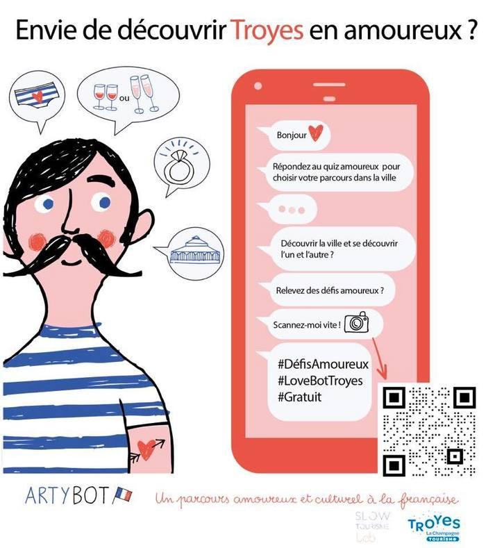 Journées du patrimoine 2020 - Parcours culturel et amoureux avec Artybot !