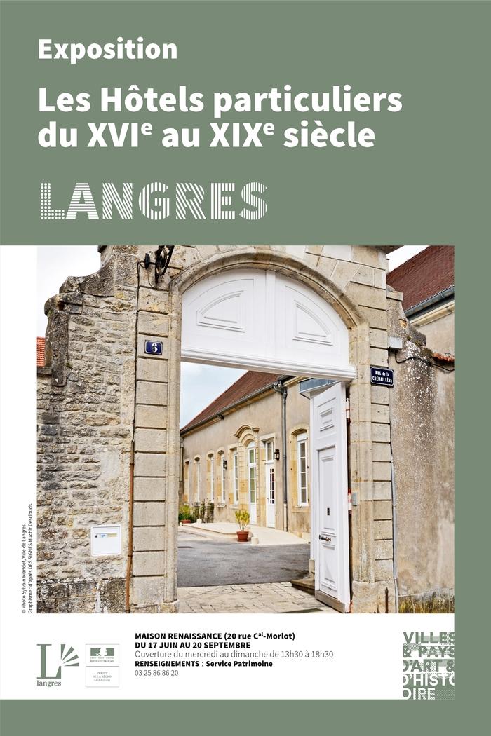 Journées du patrimoine 2020 - Exposition : Les hôtels particuliers langrois