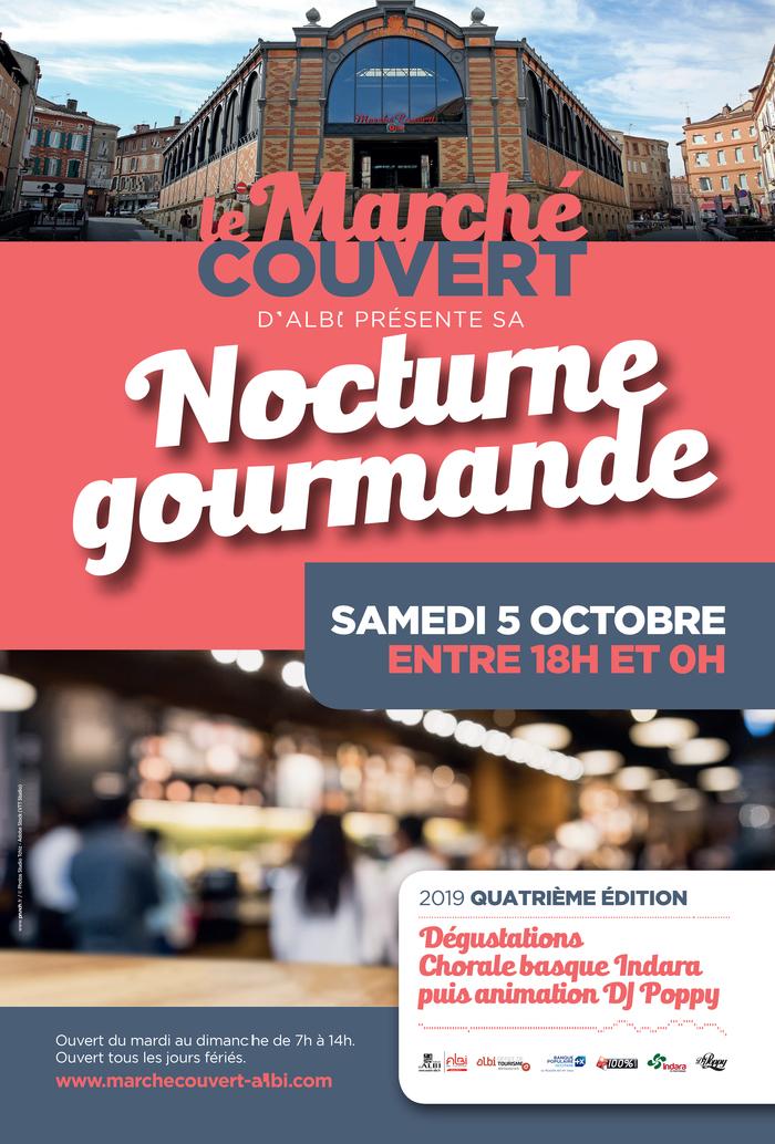 Vous l'attendiez, elle arrive ! La deuxième nocturne gourmande du marché couvert d'Albi aura lieu le samedi 5 octobre de 18h à 01:00 !