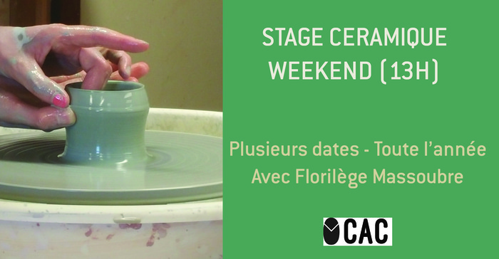 Annulé | Stage Céramique en weekend (13H)