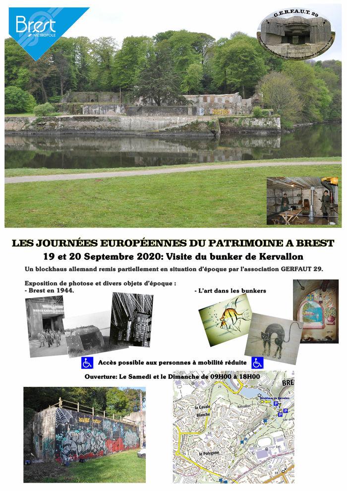 Journées du patrimoine 2020 - Visite du Bunker de Kervallon à Brest