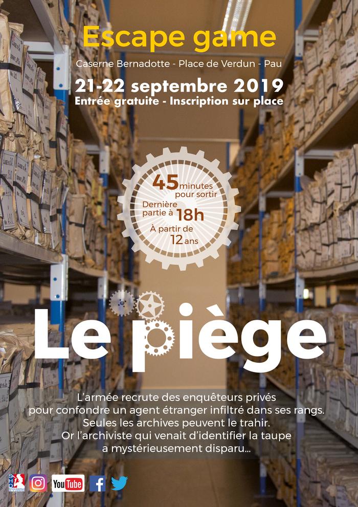 Journées du patrimoine 2019 - Le piège