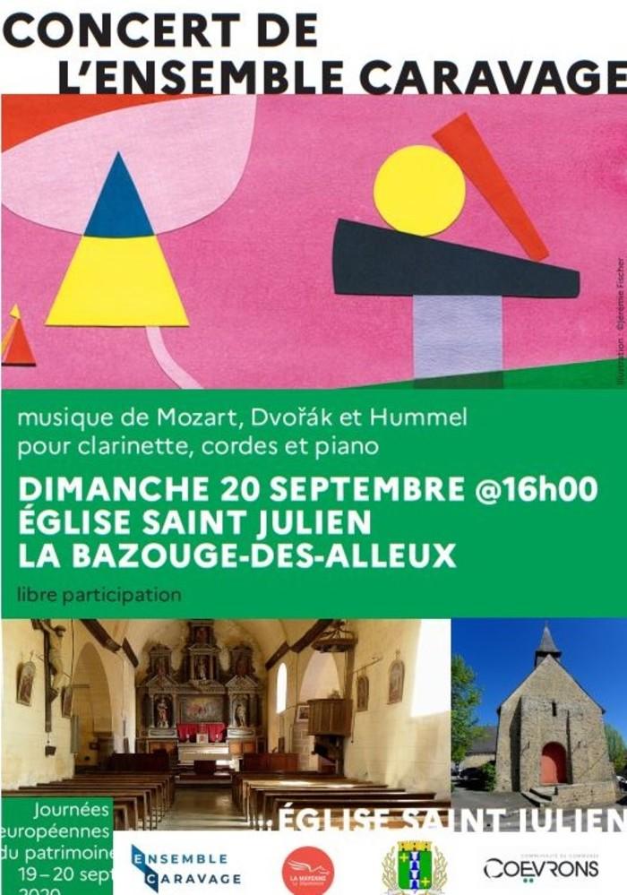 Journées du patrimoine 2020 - Concert ENSEMBLE CARAVAGE