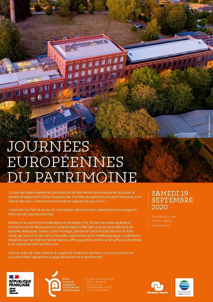 Journées du patrimoine 2020 - Visite libre de l'École nationale d'architecture de Normandie