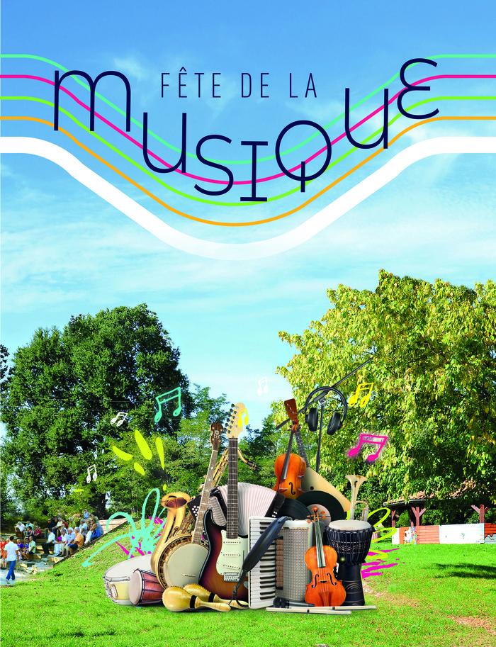 Fête de la musique 2019 - L'école municipale de musique, l'école Jean de la Fontaine, le Centre Socioculturel et les Ratels, groupe Pop-Rocks