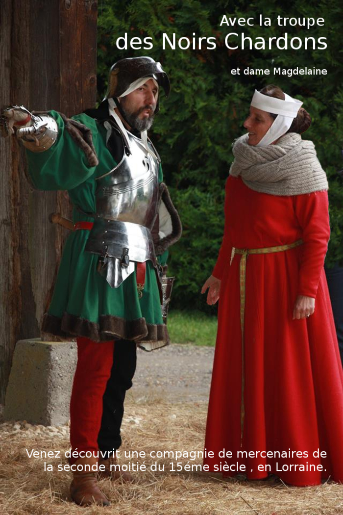Journées du patrimoine 2019 - Reconstitution d'un campement de mercenaires du XVème siècle