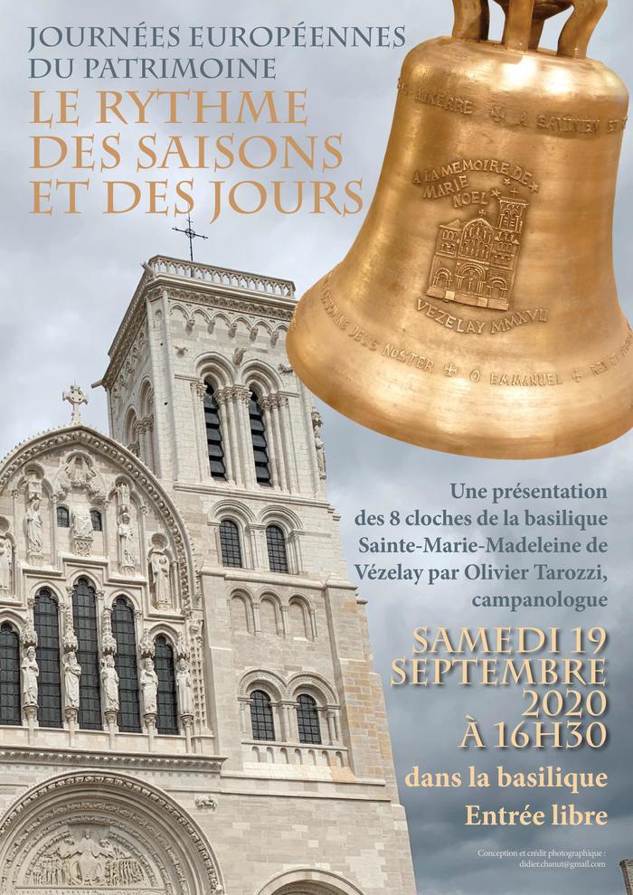 Journées du patrimoine 2020 - Présentation des 8 cloches de la basilique de Vézelay